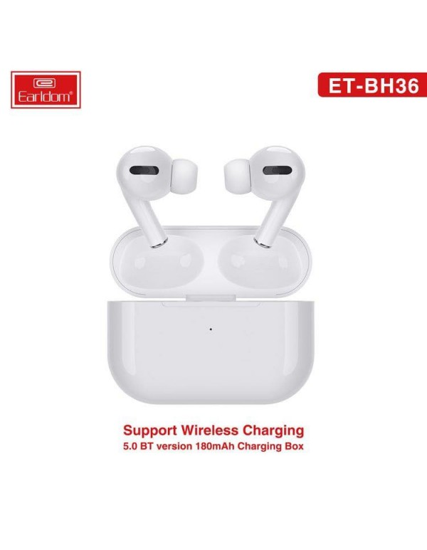 Earldom Ear-pods Pro ET-BH36 Wireless Charging and In-ear detection, Bluetooth TWS 5.0