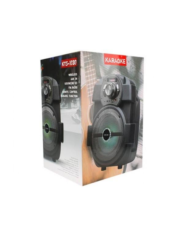Outdoor Wireless Bluetooth Speaker Aux in usb/microsd FM radio remote control karaoke function KTS-1030