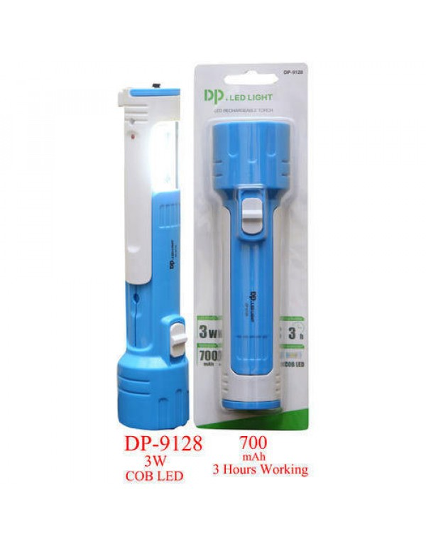 LED Electric Torch Rechargeable FLASHLIGHT Emergency Light FLASHLIGHT (DP-9128)